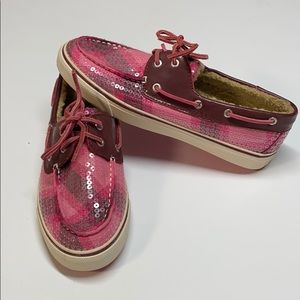Sperry Top-Sider Pink Sequin Fur Lined Shoes 8